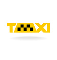 Taxi sign concept vector image vector image