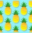 tropical seamless pattern with pineapples vector image vector image