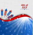 usa wallpaper for independence day traditional vector image