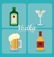 vodka drink concept vector image