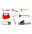 Woodworking tools set vector image vector image