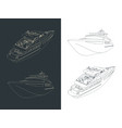 yacht drawings vector image vector image