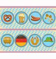 vintage beer elements with oktoberfest symbol on vector image