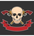 skull and revolvers vector image