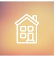 Home thin line icon vector image