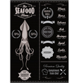 menu template with mussels for seafood restaurant vector image