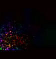 a cluster of glowing lights of different sizes vector image vector image
