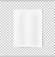 a4 format sheet paper with shadows vector image