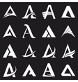 alphabet symbols and elements a letter vector image vector image