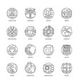 artificial intelligence line icons 2 vector image vector image