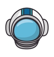 astronaut helmet isolated icon vector image