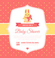 bashower invitation template on red polka dot vector image vector image