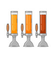 beer tower different types - lager ale vector image