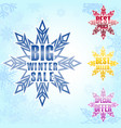 big winter sale poster background vector image vector image