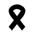 black icon awareness ribbon vector image vector image