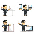Businessman or Company Executive Customizable 12 vector image vector image