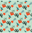 cactus seamless pattern vector image vector image