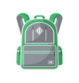 camp knapsack isolated icon vector image vector image