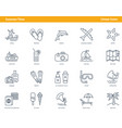 car parts icons - set 08 vector image vector image