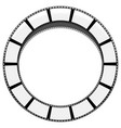 circle filmstrip isolated with shadow for vector image vector image