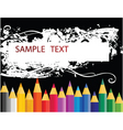 colouring pencils vector image vector image