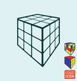 cube toy icon 3d combination puzzle cube vector image