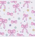 cute bow ties pattern design vector image