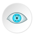Cyber eyes icon cartoon style vector image