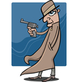 detective or gangster cartoon vector image vector image