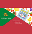 flat casino and gambling composition vector image vector image