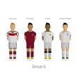 Football teams Group G - Germany Portugal Ghana vector image vector image
