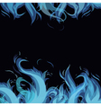frame made from blue flame vector image vector image
