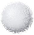 fur pompon vector image vector image