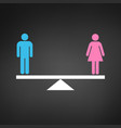 gender equality concept icon pink and blue gender vector image vector image