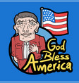 god bless america vector image