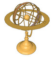 gold sculpture on white background vector image