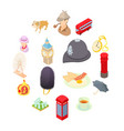 great britain icons set isometric 3d style vector image vector image