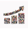 group people shape growing graph vector image