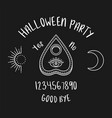 halloween ouija planchette with eye of providence vector image vector image