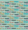 hand drawn pattern with colorful cars vector image