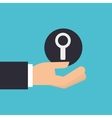 hand holding search look icon design isolated vector image