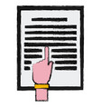 hand pointing document vector image
