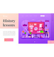 history lessons landing page template vector image vector image