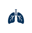human lungs silhouette vector image