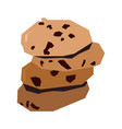 isolated geometric cookies vector image