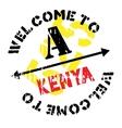 Kenya stamp rubber grunge