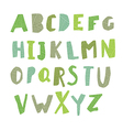 Leaf Cut Alphabet Easy edited colors of letters vector image vector image