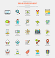 Line flat icons set 2 vector image vector image