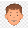 male face with haircut icon cartoon style vector image