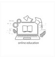 online education thin flat design vector image vector image